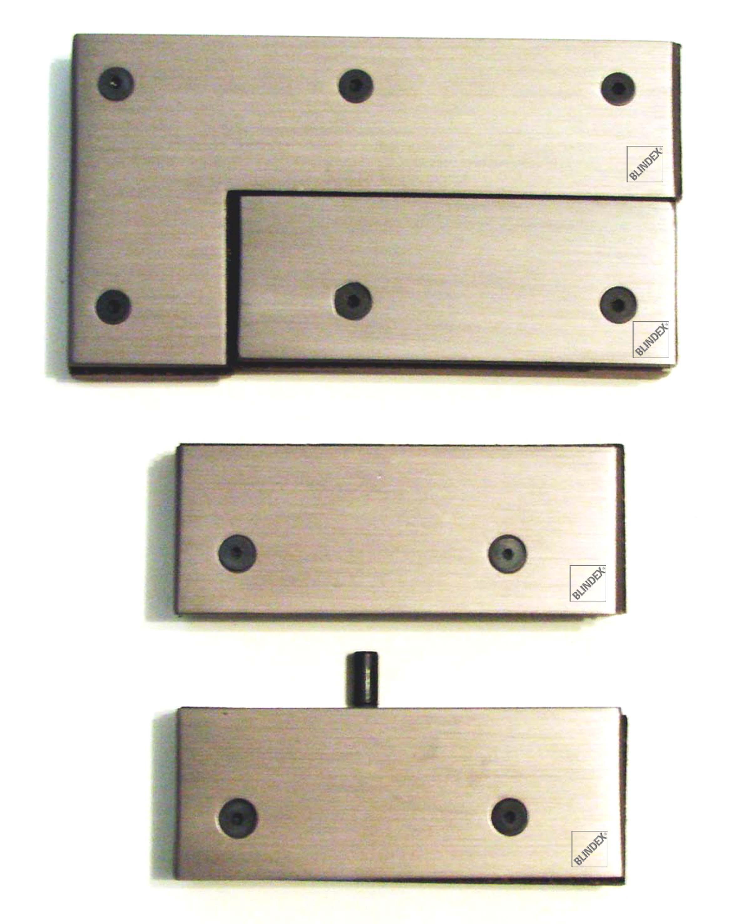 #91743A Ferragens Blindex ® Revolution – linha 5000 364 Janelas De Vidro Temperado Usado