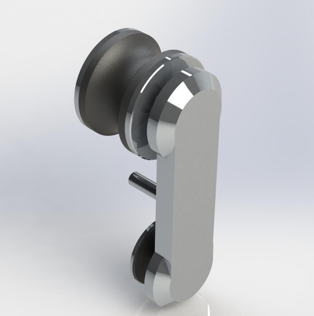 Blindex Roldanas Aparentes em Alumínio #5C616F 1071x1079 Acessorios Box Banheiro